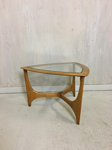 Lane Glass and Oak End Table