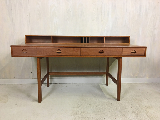 Teak Flip Top Partner Desk by Jens Quistagaard for Peter Lovig