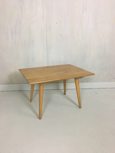 Mid Century Modern Maple Side Table