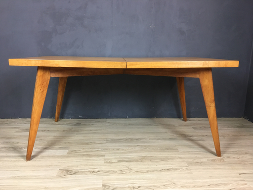 Mid Century Solid Maple Dining Table
