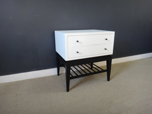 Martinsville mid century painted mini chest
