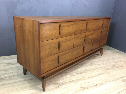 Mid Century American of Martinsville Walnut Bureau Boston