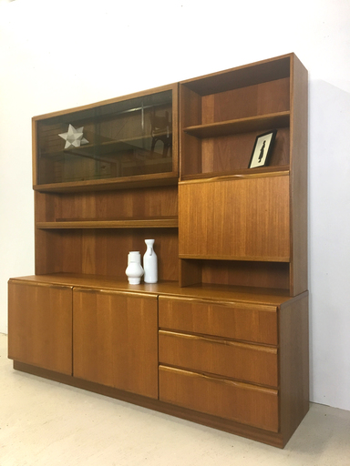 Danish Modern Teak Wall Unit by McIntosh Boston