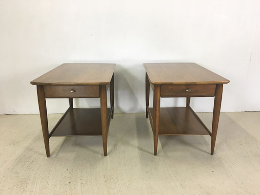 Pair of Mersman Walnut End Tables