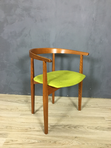 Mid Century Oak Accent Chair