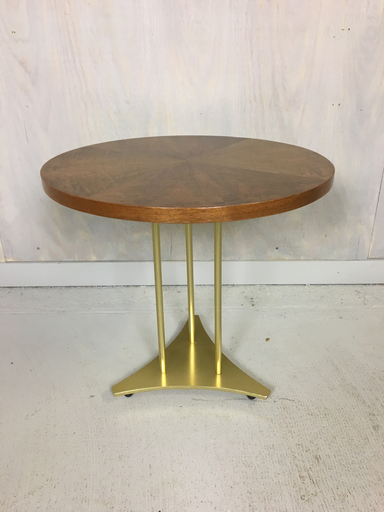 Paine Furniture Round Accent Table with Brass Base