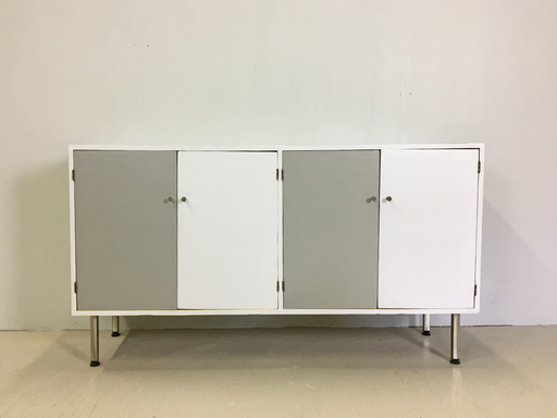 Handmade Mid Century Painted Credenza