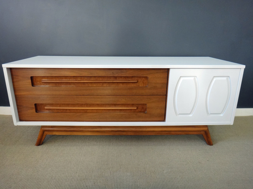 Updated Mid Century Low Credenza