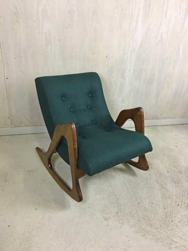 Adrian Pearsalll Upholstered Rocker for Craft Associates