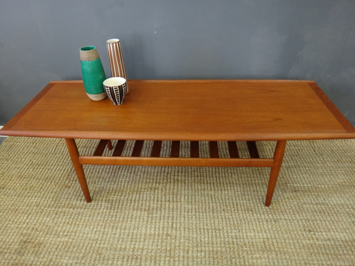 Mid Century Danish Modern Teak Coffee Table