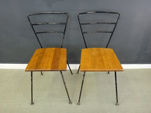 Vintage Sears Metal and Wood Chairs