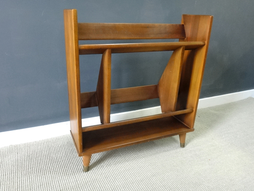 Mid Century Wood Book StandShelf