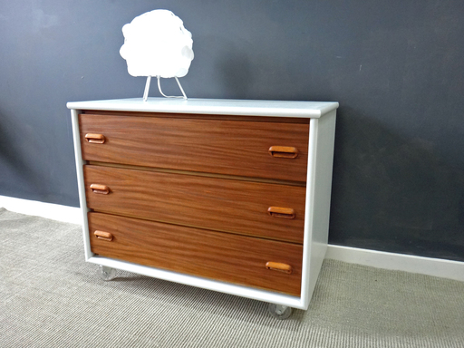 Danish Modern Style Chest on Wheels