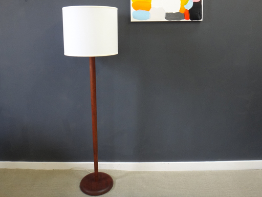 Mid Century Tapered Wood Floor Lamp