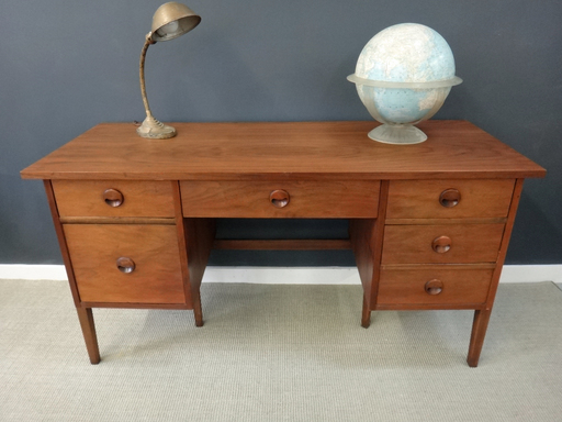 Danish Modern Style Walnut Desk