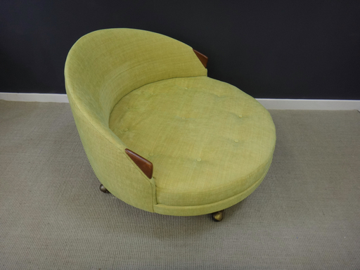 Adrian Pearsall nbspRound Upholstered Chair