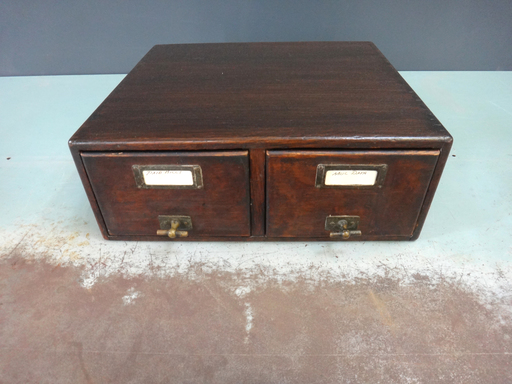 Antique Wood nbspFile Box