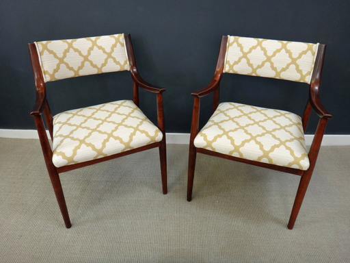 Pair of Newly Upholstered Danish Modern Accent Chairs