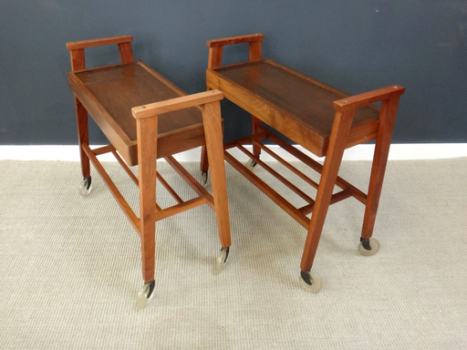 Mid Century Wood Bar Carts