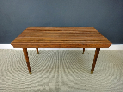 Wood Slat Coffee TableBench
