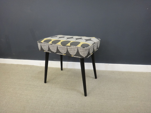 Reupholstered Mid Century Ottomans