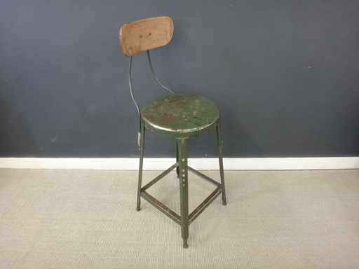 Metal and Wood Vintage Task Chair