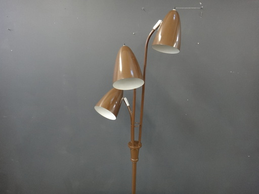 Retro brown metal standing lamp
