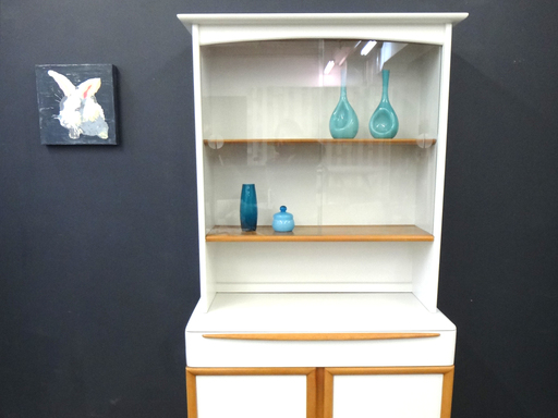 Updated painted Heywood Wakefield China cabinet