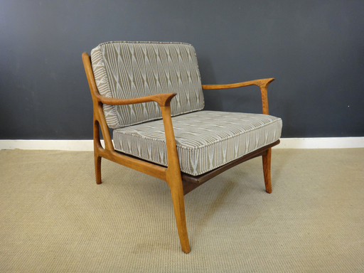 Mid Century Italian Upholstered Lounge Chair