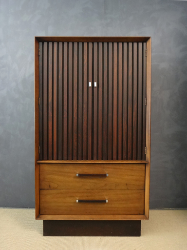 Mid Century Lane Rosewood and Walnut WardrobeBureau
