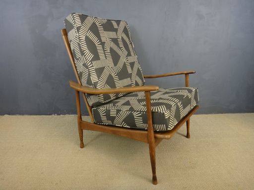 Re-Upholstered Mid Century Lounge Chair