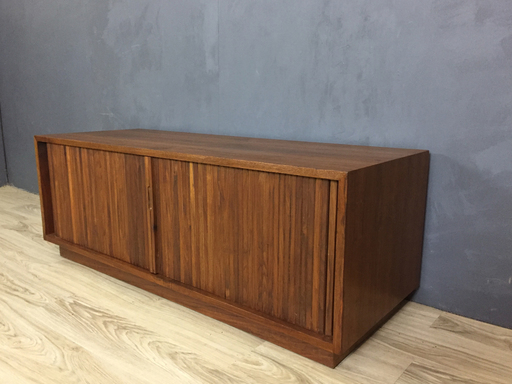 Mid Century Glenn of California Tambour Door Walnut Chest