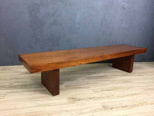 Mid Century Walnut Coffee Table or Bench Boston