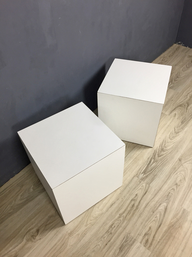 Mid Century Modern White Cube Side Tables nbspBoston