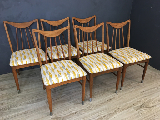 1950s Keller Re-upholstered Hickory Dining Chairs