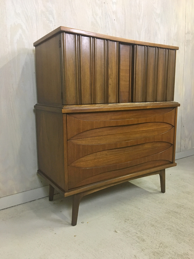 Walnut Highboy by Young Manufacturing