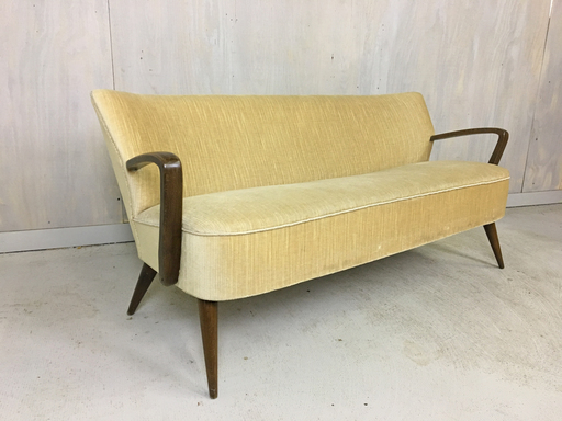 Mid Century German Upholstered Settee