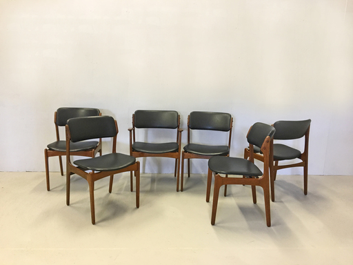 Erik Buch for Oddense Danish Modern Teak Dining Chairs