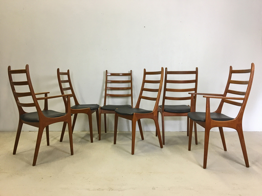 Danish Modern Teak Dining Chairs by Kai Kristiansen  Boston