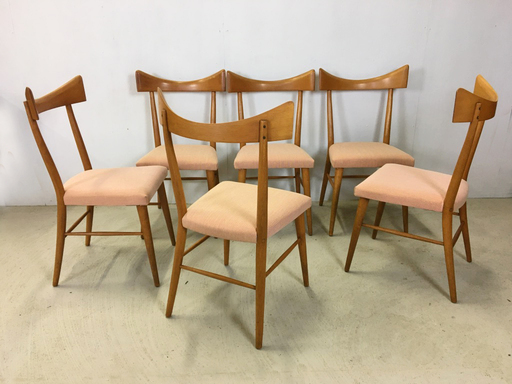 Set of Paul McCobb Maple Dining Chairs