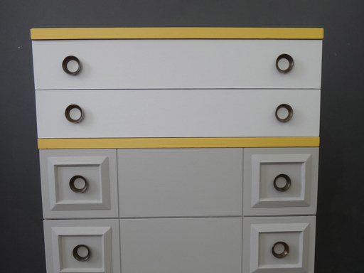 Painted Deco-Inspired Bureau