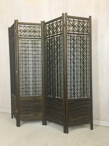 Mid Century Modern Wood Screen Room Divider