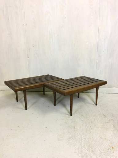 Pair of Slat Side Tables