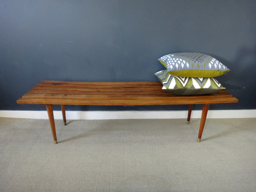 Mid Century old slatted bench