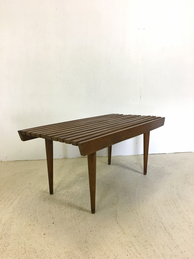 Slatted Walnut nbspSide Table or Bench