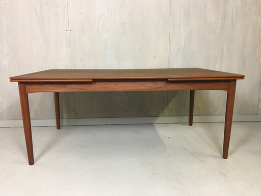 Danish Modern Teak Extension Dining Table by Soburg Mobler
