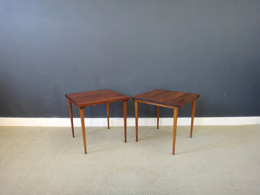 Pair of Mid Century Petite Wood Accent Tables