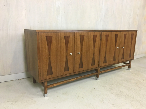 Walnut Credenza with Rosewood Inlay by Stanley