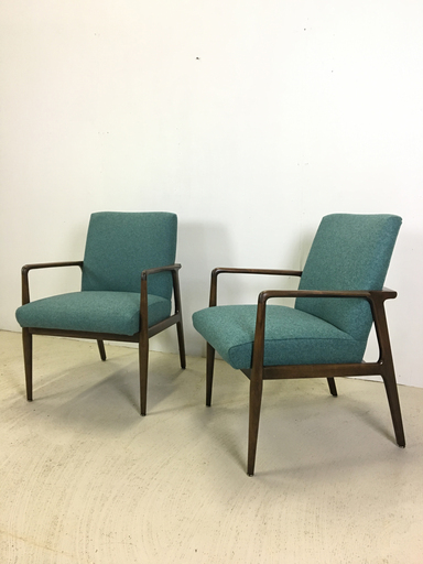 Pair of Upholstered Lounge Chairs for Stow amp Davis