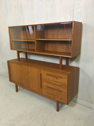 Danish Modern Teak China Cabinet Sideboard Boston